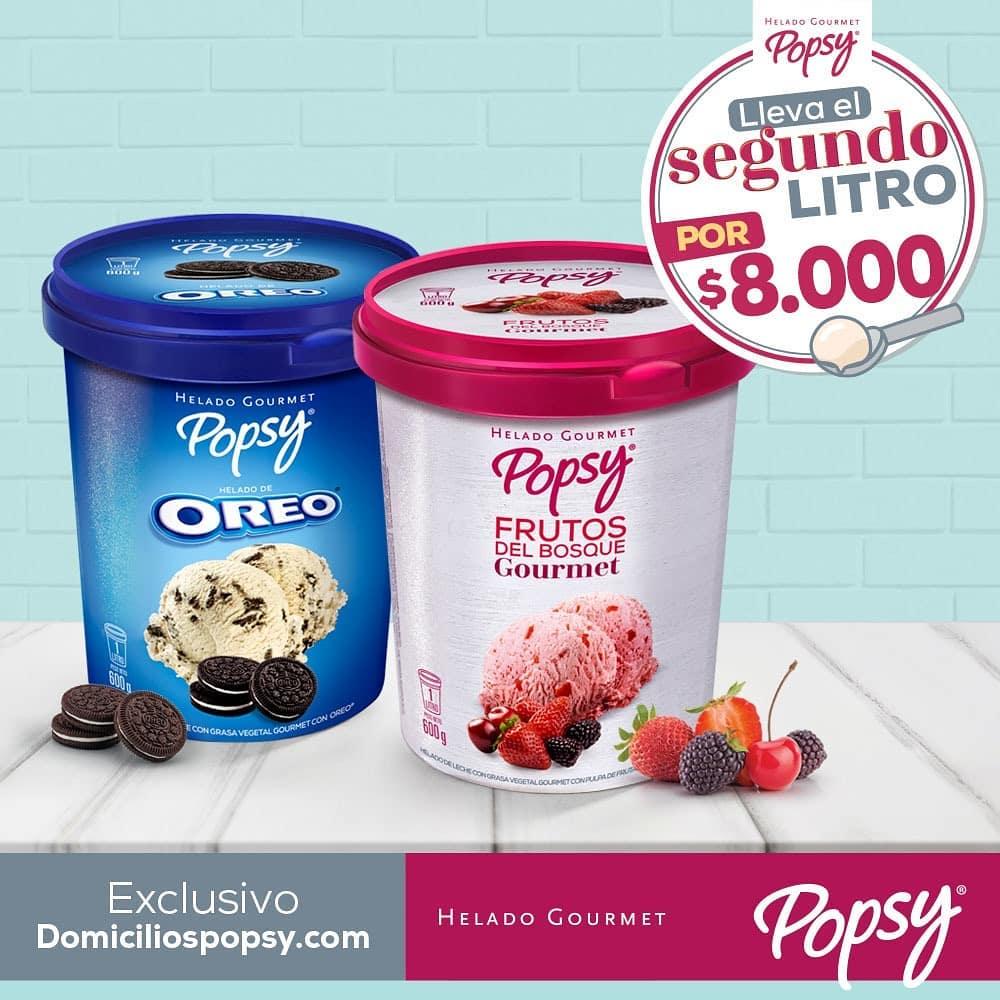 Litro de helado Popsy